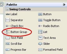 Button group component