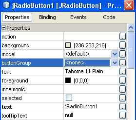 RadioButton properties